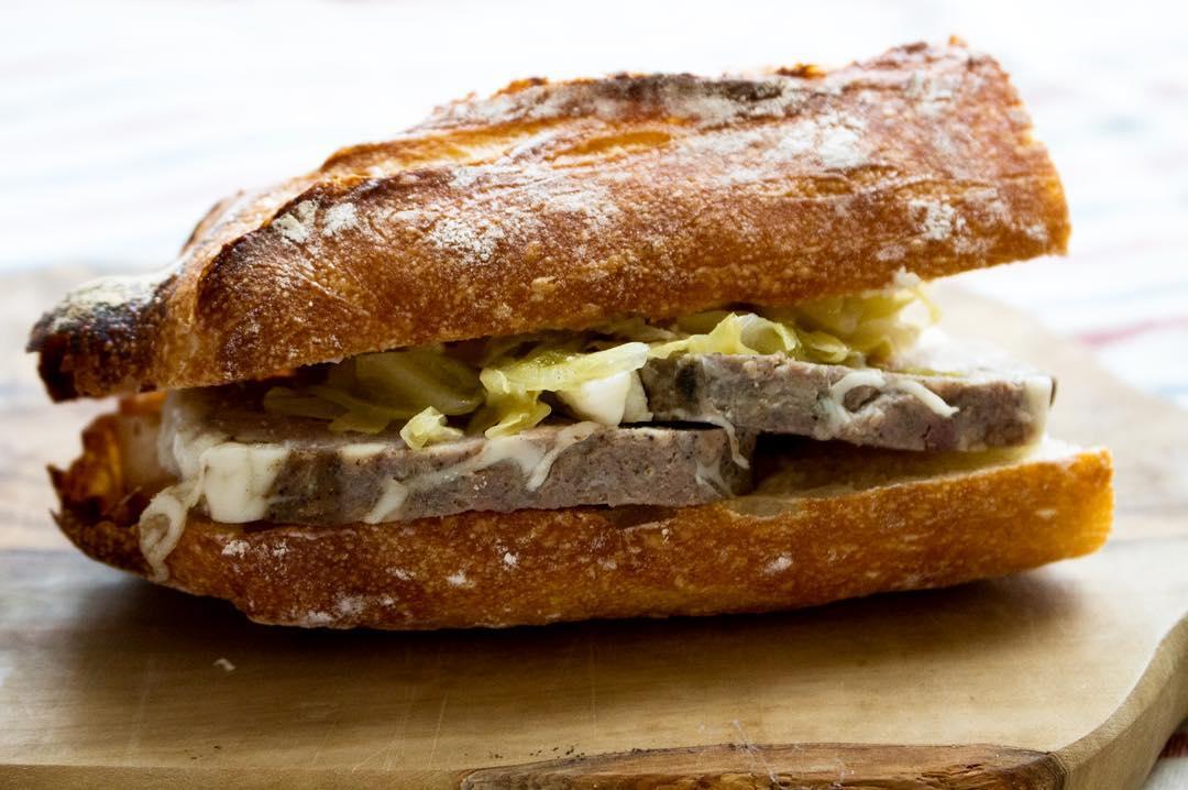 オパンのパテ・ド・カンパーニュバゲットサンドイッチ(2017.04.21)
