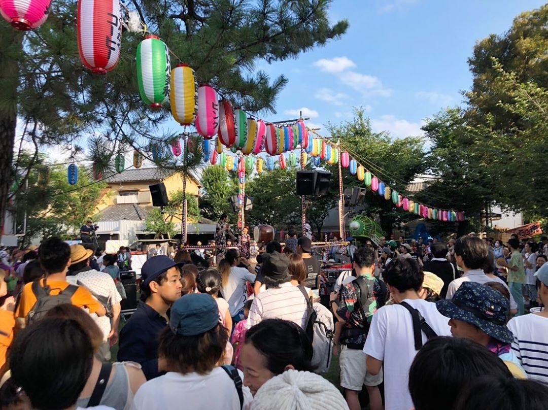 大和町八幡神社 大盆踊り会 2019に参加しています(2019.07.27)